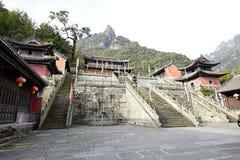 Montering Wudang, Kina: forntida byggnader Royaltyfri Fotografi