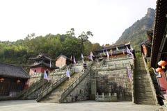 Montering Wudang, Kina: forntida byggnader Royaltyfria Bilder