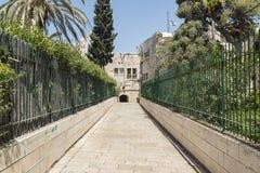 Montering Zion Lane - Jerusalem Royaltyfri Fotografi