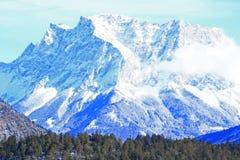 Montering Zugspitze Arkivbild
