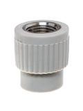 Monteringar för Polypropylene (PVC) på vit bakgrund Royaltyfri Foto