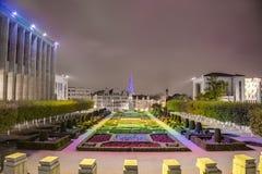 Monteringen av konsterna i Bryssel, Belgien. Arkivfoto