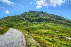 Monteringen Cimone är den viktigaste och mest nordliga Apenninesen i den Emilia-Romagna regionen, med en höjd av 2.165 Royaltyfri Bild