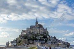 MonteringsSaint Michel i Normandie Frankrike Arkivbild