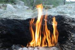 Monteringsskenbild - naturlig brand Arkivbild