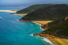 MonteringsTomaree utkik, NSW, Australien royaltyfri foto
