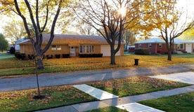Monteringsutsikt IL, USA November 8, 2013 Bostads- område Royaltyfri Foto