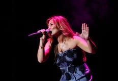 Montero espagnol d'Amaia de chanteur vivant Images stock