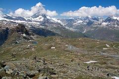 Monterosa at the Matterhorn, Valais, Switzerland Stock Photo