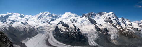 Monterosa at the Matterhorn, Valais, Switzerland Royalty Free Stock Image
