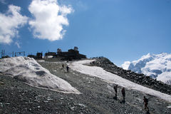 Monterosa at the Matterhorn, Valais, Switzerland Stock Images