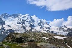 Monterosa at the Matterhorn, Valais, Switzerland Stock Photography