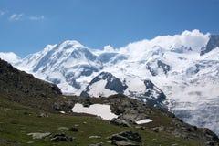 Monterosa at the Matterhorn, Valais, Switzerland Royalty Free Stock Images