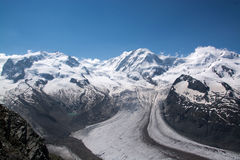 Monterosa at the Matterhorn, Valais, Switzerland Royalty Free Stock Image