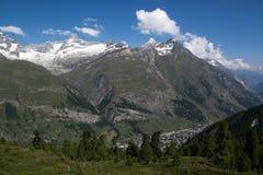 Monterosa at the Matterhorn, Valais, Switzerland Stock Image
