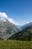 Monterosa at the Matterhorn, Valais, Switzerland Royalty Free Stock Photo