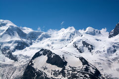 Monterosa at the Matterhorn, Valais, Switzerland Royalty Free Stock Photo