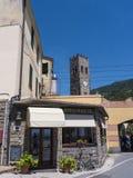 Monterosso利古里亚的Cinqueterra海岸线的一个渔村在北意大利 村庄不可能由路到达, 图库摄影