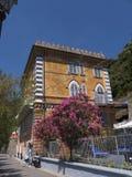 Monterosso利古里亚的Cinqueterra海岸线的一个渔村在北意大利 村庄不可能由路到达, 免版税库存照片