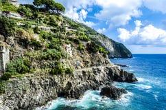 Monterosso -五乡地 库存照片