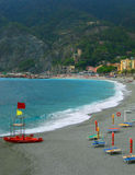 Monterosso Al Mare beach, Italy Royalty Free Stock Images