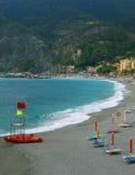 Monterosso Al Mare beach, Italy. Beach in Monterosso, Cinque Terre, Italy, Europe Royalty Free Stock Images