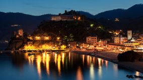 Monterosso al Mare at dusk Stock Photos