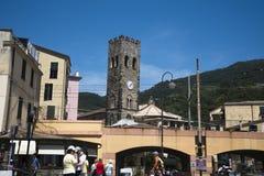 Monterosso al Mare is a fishing village on the Cinqueterra coastline of Liguria in Northern Italy. Stock Photo