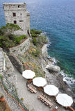 Monterosso al Mare with its bunker Royalty Free Stock Photo