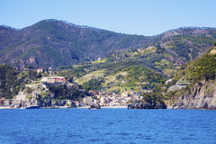 Monterosso architecture from the sea Royalty Free Stock Photo