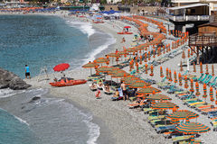 Monterosso beach Stock Photography