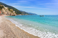 Monterosso Beach at Ligurian Sea Stock Photos