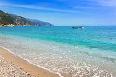 Monterosso Beach at Ligurian Sea Royalty Free Stock Photos