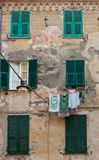 Monterosso Building with Shutters Stock Photo