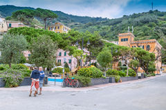 Monterosso, Cinque Terre, Λιγυρία, όψη ματιών Italy Στοκ εικόνα με δικαίωμα ελεύθερης χρήσης