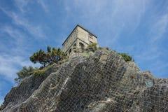 Monterosso cinque terre castle Stock Photos