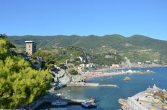 Monterosso Cinque Terre. Liguria. Sea and beach in Northern Italy, Cinque Terre, UNESCO SITE and Natural Reserve Stock Photo