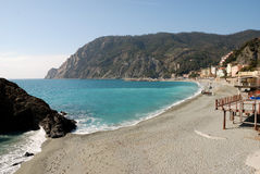 Monterosso (Cinqueterre). Beach Stock Photo