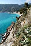 Monterosso (Cinqueterre). Promenade Royalty Free Stock Photo