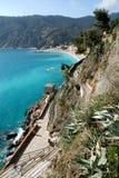 Monterosso (Cinqueterre). Promenade Lizenzfreies Stockfoto