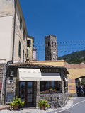 Monterosso a fishing village on the Cinqueterra coastline of Liguria in Northern Italy. The villages cannot be reached by road,. The fishing villages of Stock Photography
