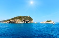 Monterosso kust, Cinque Terre Arkivbilder