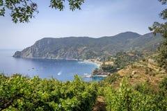 Monterosso (nuova città) in Cinque Terre, Italia immagine stock libera da diritti