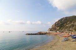 Monterosso plaża Zdjęcia Stock