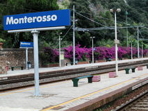 Monterosso railway station, Cinque Terre, Italy Stock Images