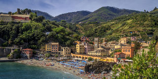 Monterosso's Old Town in the afternoon. The northern-most of the five towns of  Cinque Terre, Italy Stock Photos