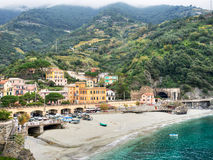Monterosso village in the Cinque Terre, autumn. Stock Images