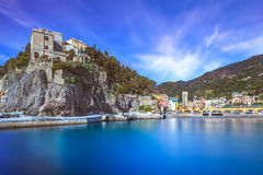 Monterosso village, harbor and sea bay. Cinque terre, Liguria Italy Royalty Free Stock Photos