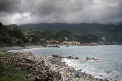 Monterosso village sea view in Italy Stock Image