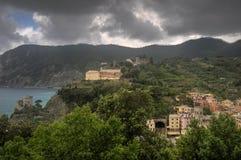 Monterosso village sea view in Italy Stock Photos